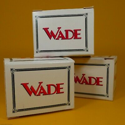 "Wade Whimsies (2-1/8"" H x 3"" L x 2"" W) White/Red Storage Boxes - (3 Pack)"
