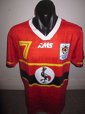Uganda AMS National Team Shirt Jersey Football Soccer X-Large RARE