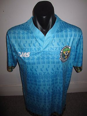 Zanzibar Away AMS National Team Shirt Jersey Football Soccer Large RARE
