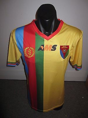 Eritrea AMS Third National Team Shirt Jersey Football Soccer Large RARE