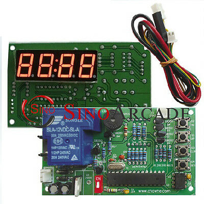 15A Coin Operated time Control board timer baord Power Supply for Coin Acceptor