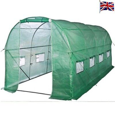 Greenhouse Fully Galvanised Polytunnel Steel Frame Tunnel Pollytunnel 6m x 3m !!