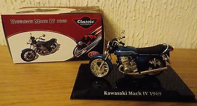 1:24 Scale - Atlas Editions - Kawasaki Mach Iv 1969 - Motorbike Model - Bnib
