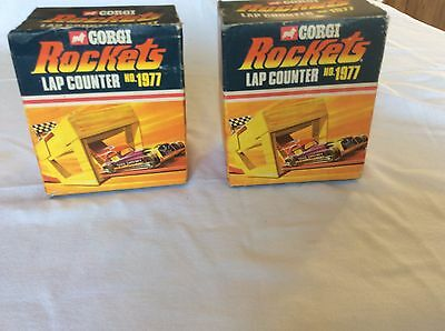 VINTAGE c1970s CORGI ROCKETS No.1977 LAP COUNTER BOXED MADE IN GREAT BRITAIN