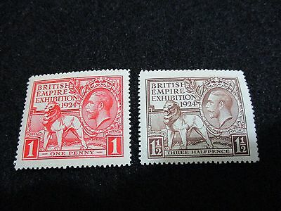 Timbre one penny et three halfpence rouge 1924 british empire exhibition