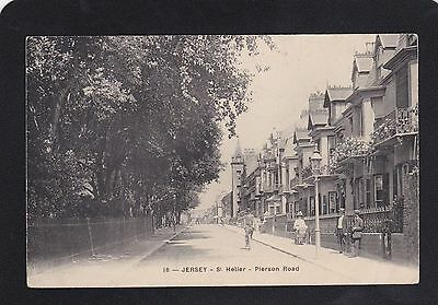 Postcard - Jersey - Pierson Road - No 18 - V.Good - Posted 1911