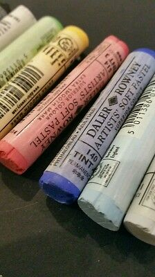 Daler Rowney Artist Quality Soft  Pastels.10 Assorted Colours. Stock Clearance
