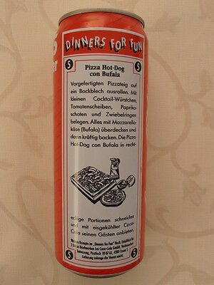 Coca Cola Dose Dinners for Fun  BRD (1992) 0,5l Can Germany No. 5 Pizza Hot-Dog