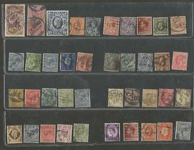 UK x 51 Stamps Perfin Very Nice Lot