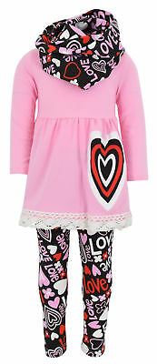 Unique Baby Girls Valentine's Day Outfit Layered Heart Crochet Outfit