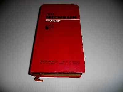Guide Rouge Michelin France 1971