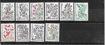 French Andorra 1985 postage due set mnh