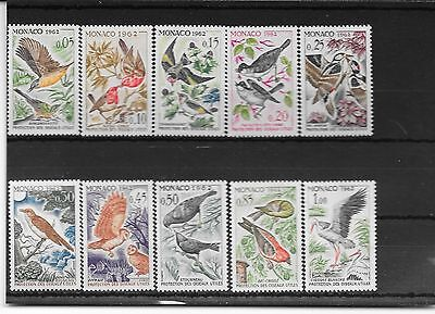 Monaco 1962 birds set mnh