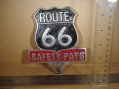 Route 66 License Plate FOB Topper Wall Car Motorcycle