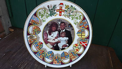 1990 Birth of Princess Eugenie of York Caverswall China plate Family Portrait