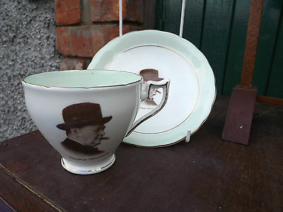 Vintage World War 2 Churchill Cup & Saucer by Wellington China