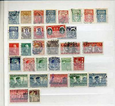 Lithuania small collection in stock book - stamps only