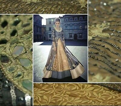 Unstitched Designer Suit Ankle Length Anarkali Indian Bollywood Salwar Kameez 45