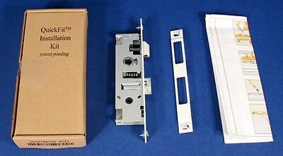 "* Larson QuickFit 7/8"" Mortise Lock Installation Kit White Pella Wright NEW *"