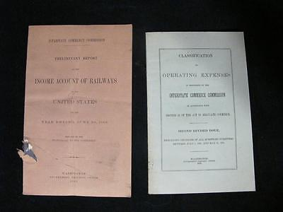 2 Railroad Books: Income Account & Class of Operating Expenses 1902