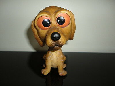 Vintage BOBBLE HEAD DOG 5 inch Hand Painted