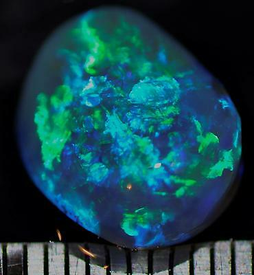 4.40 Carats Of Solid Gem Quality Lightning Ridge Rough Rubbed Opal High Grade!