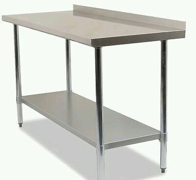 5FT Stainless steel table with splashback