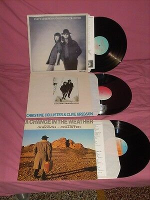 Clive Gregson & Christine Collister-Lot Of 3 Near Mint Uk Press Lps