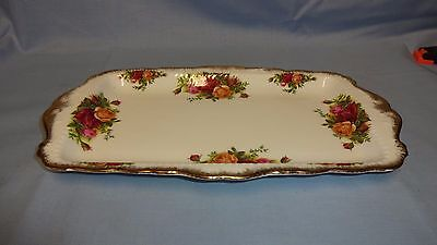 Attractive Royal Albert Old Country Roses Oblong Sandwich Plate/Dish