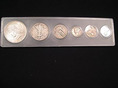 Us Type Set With 1922 Peace Silver Dollar