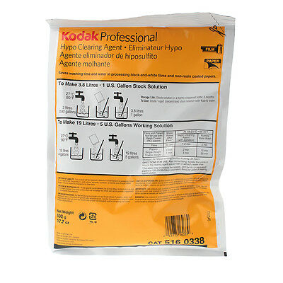 Kodak Hypo Clearing Agent - Makes 5 Gallon (5160338)