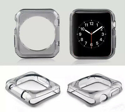 """Apple watch TPU Protector Gel Case for Apple iWatch Size 42"""" - Black"""