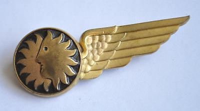 Vintage National Airlines Sun Face Logo Stewardess Flight Attendant Wings