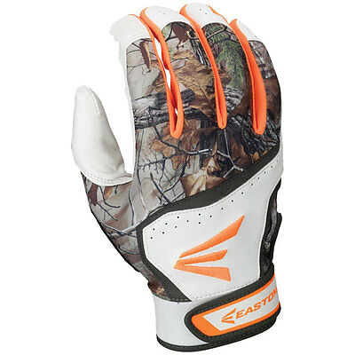 Easton HS7 Real Tree Hyperskin Youth Batting Gloves - Large White/RealTree