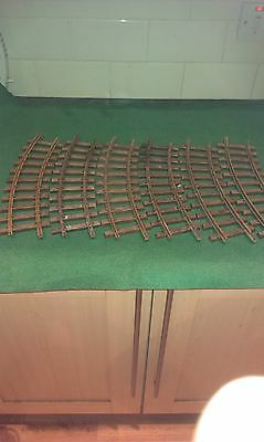6 x CURVED  1100 - R 600mm  LEHMANN LGB  G GAUGE TRACK excellent condition SET 2