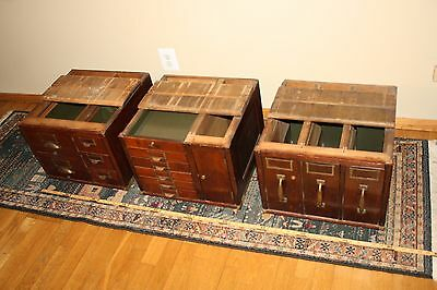 Antique Globe Wernicke Mahogany 3 stacking sections / 15 drawer File Cabinet