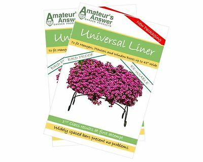 """Universal Planter, Trough, Manger & Window Box Liners - 2 Pack - Up to 48"""" Wide!"""