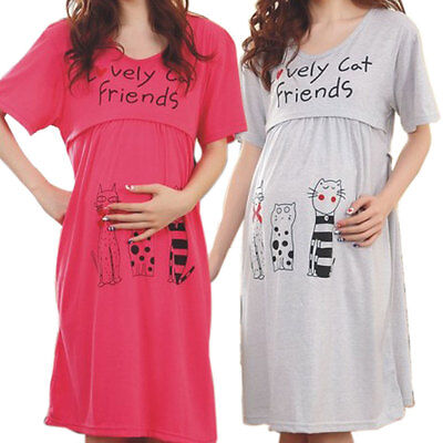 Nursing Dresses Pregnancy Bathrobe Clothes Maternity Pajamas for Women Home