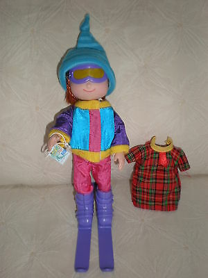 """Madeline 8"""" Doll Ready For The Slopes In Jacket Pants Skis Goggles Hat Ski Pass"""