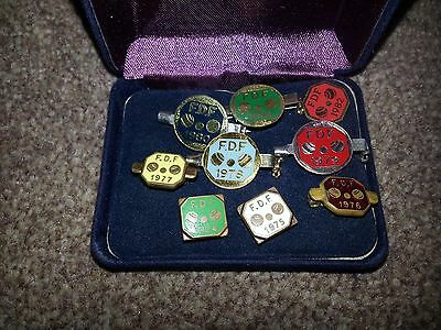 A Collection Of F.D.F Bowls Pin BadgesE