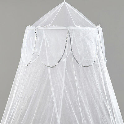 White Single Bed Canopy with Silver Binding - NEW