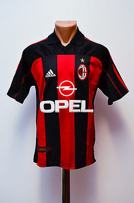 Ac Milan Italy Size S 2000/2001/2002 Home Football Shirt Jersey Maglia Adidas