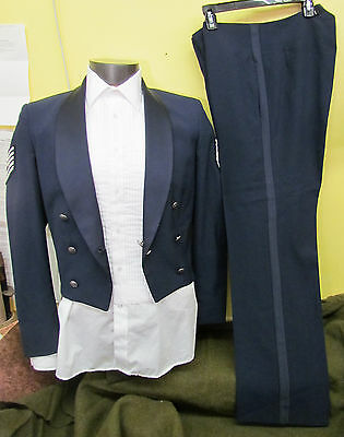 Air Force Formal Pants & Jacket, Tuxedo, Mint, Blue, Rare W/ Cert. + Shirt