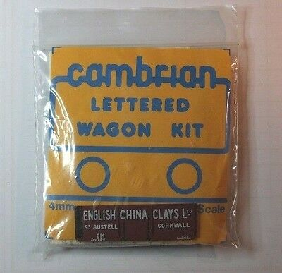 Cambrian Lettered Po Gwr Great Western English China Clays 6 Plank Open Wagon