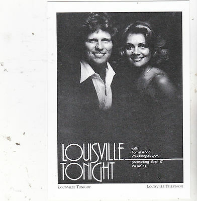 "*Postcard-""Louisville Tonight: ...with Tom & Angie- *Louisville Television (#99)"