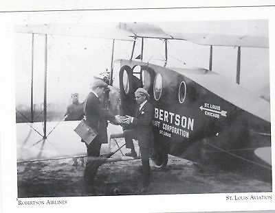 """*Postcard-""""Robertson Airlines"""" ...started 1926-  ....St. Louis Aviation (#61)"""