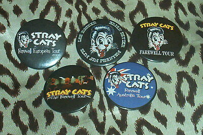 Set of 5 STRAY CATS 'Farewell Tour' souvenir magnets