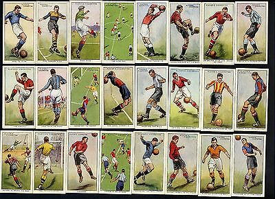 """1934  Players  """"hints  On  Association  Football""""  Complete  Set  (50)  Loose."""