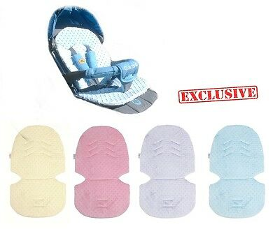 UNIVERSAL Liner Cover Mat MINKY Pushchair Stroller Buggy Car Seat Bouncy Swing