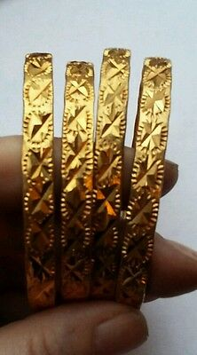 4 Indian Gold Bangles